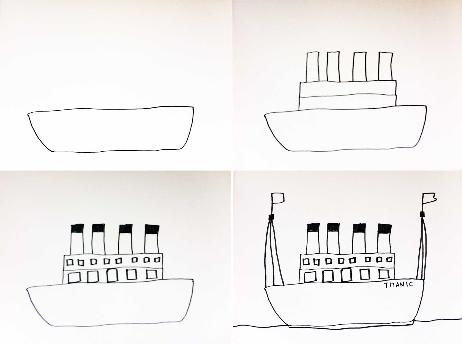 Drawn titanic simple Draw Artisan Arts: How Paintings