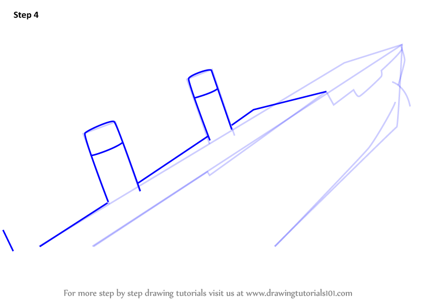 Drawn titanic simple Step Step Learn to and