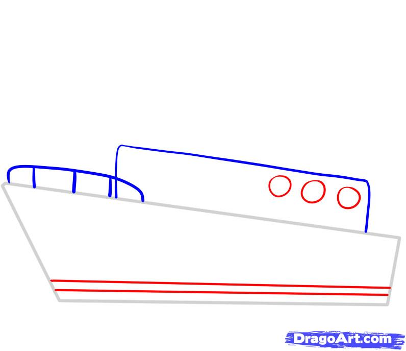 Drawn titanic simple Ship how draw Transportation ship