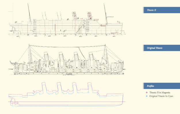 Drawn titanic titanic 2 Blueprints Titanic the II Blueprints