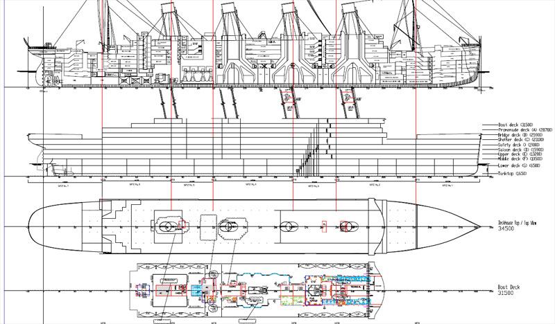Drawn titanic titanic 2 First II Cruise At Plans