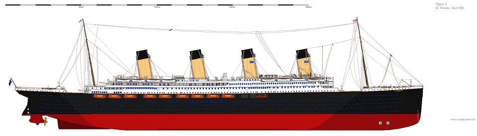 Drawn titanic titanic 2 Limited After back II(Finished) Shipbucket