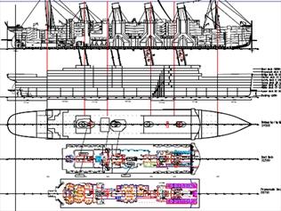 Drawn titanic titanic 2 Titanic plans Plans II News