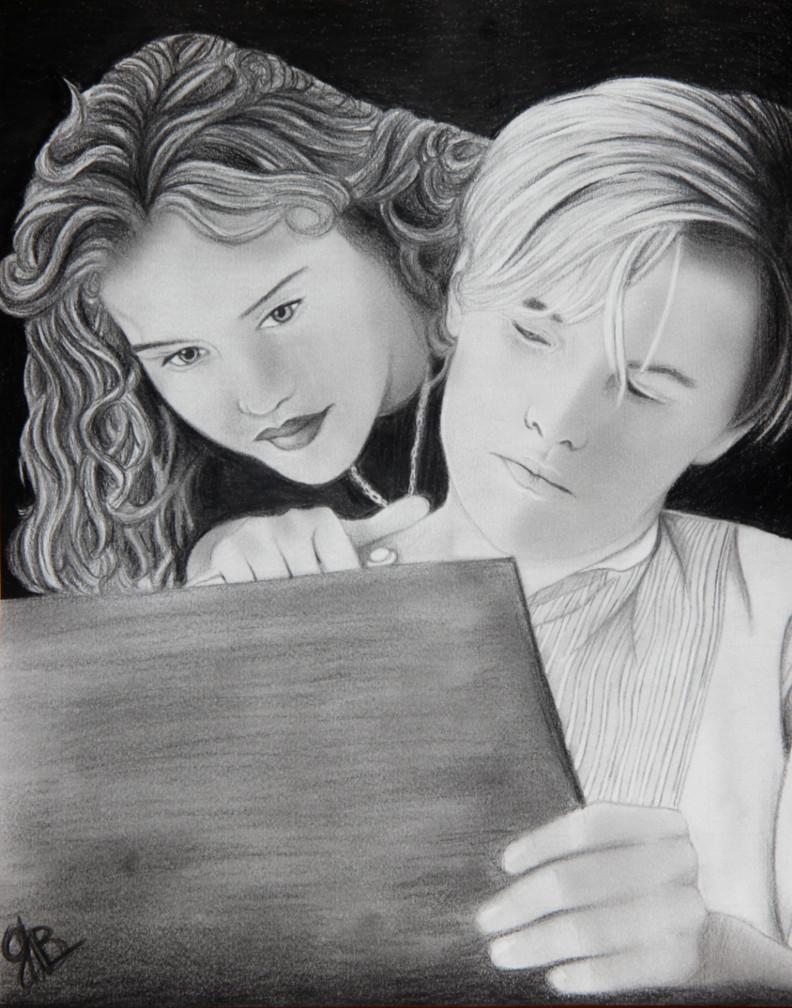 Drawn titanic titanic movie jack Rose drawing Rose on by