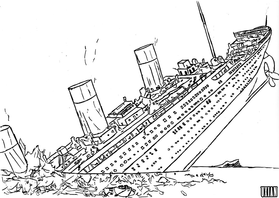 Drawn titanic titanic sinking Ship Titanic Sinking Sinkin Drawing