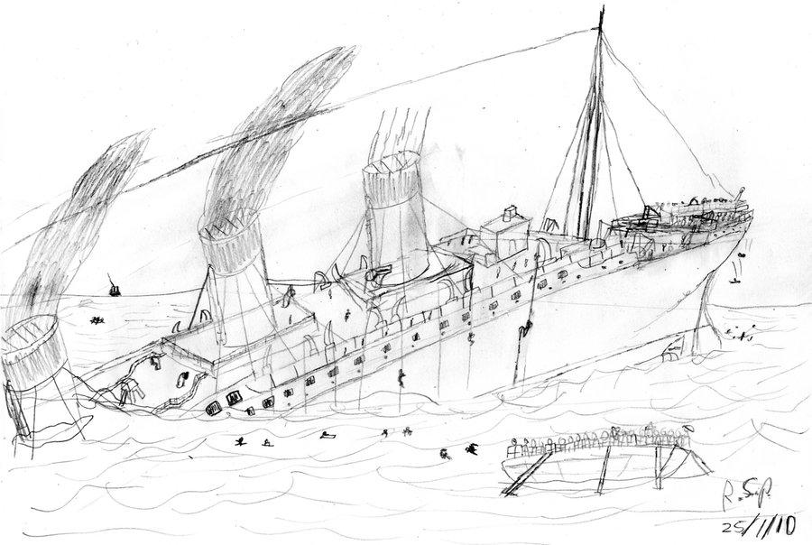 Drawn titanic titanic sinking Titanic the TimeLordParadox The Titanic