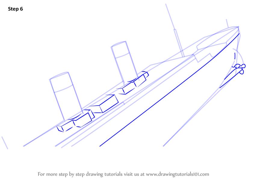 Drawn titanic titanic sinking To How Titanic Sinking Step