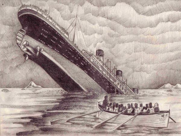 Drawn titanic titanic sinking By Titanic Sinking of Thunderfire23