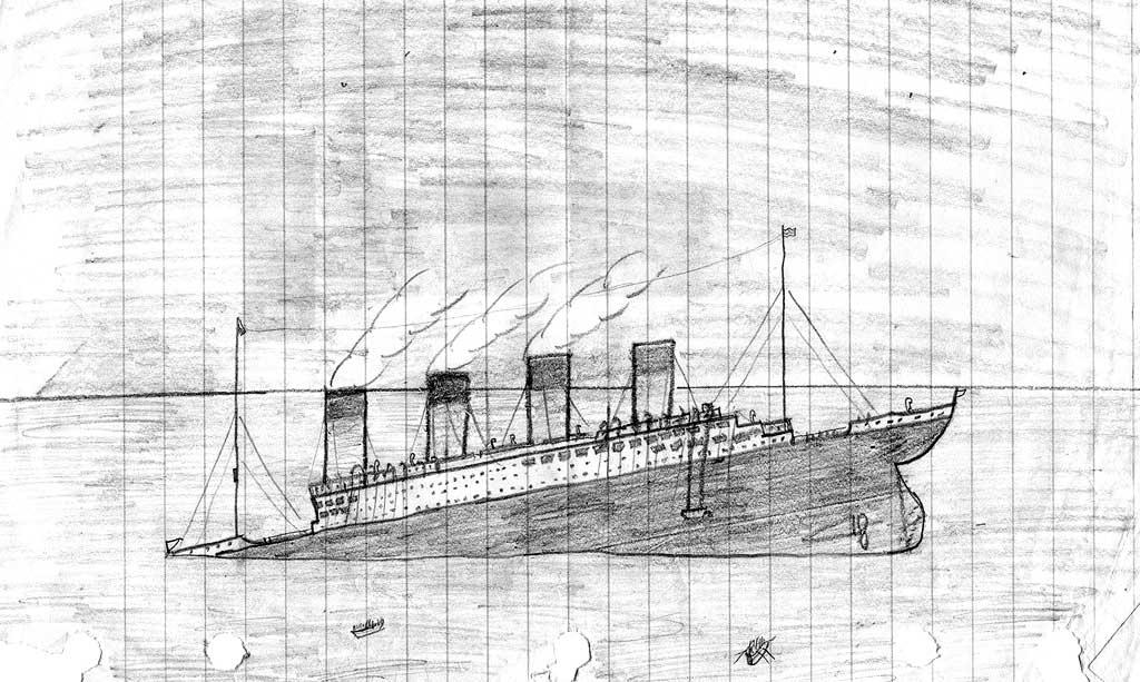 Drawn titanic titanic sinking Titanic Sinking Drawing Sinking IMGFLASH