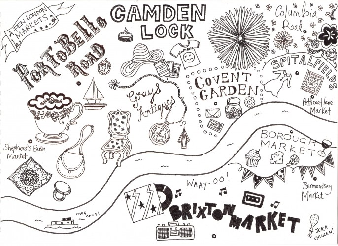 Drawn toad hand drawn Markets of Hand Maps Markets