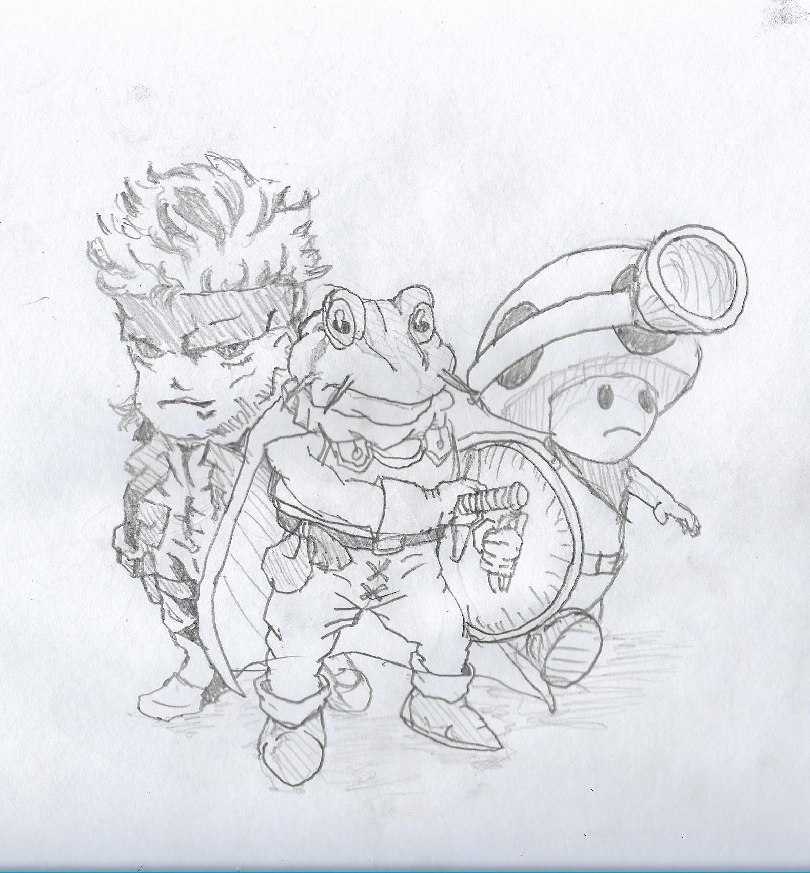 Drawn toad one point Frog June Toad: Snake :