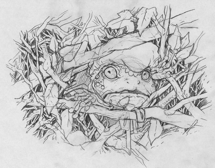 Drawn toad one point Jumped he out woods train