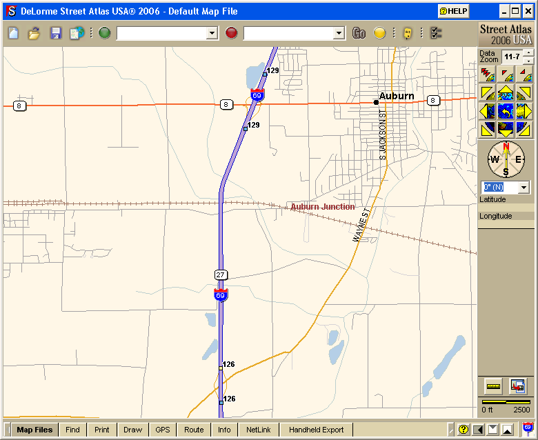 Drawn road road map Onramps Atlas overview Creating map