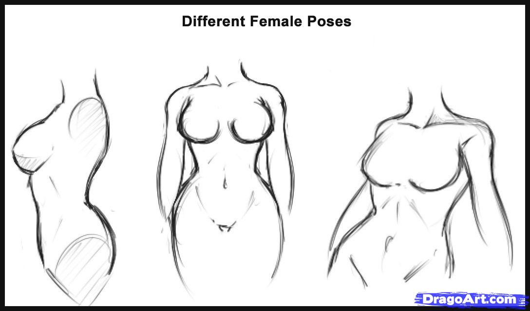 Drawn women hot Step draw a Figures by