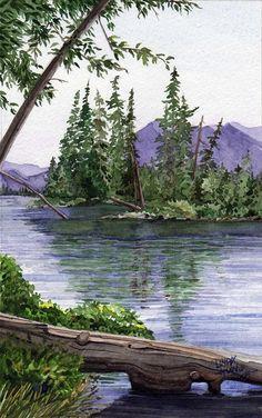 Drawn todies landscape • The Pinterest ideas Fine