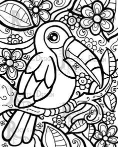 Drawn todies printable Jo Brusho Parrot Tangled original