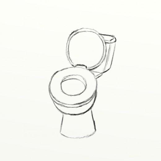 Drawn toilet Squarish of back draw HubPages