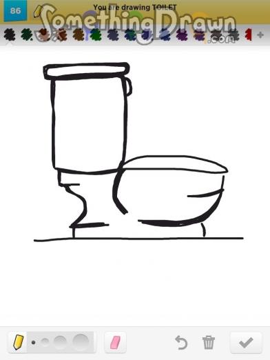 Drawn toilet Draw com  Draw on