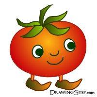 Drawn tomato Cartoon draw I'll happy Red
