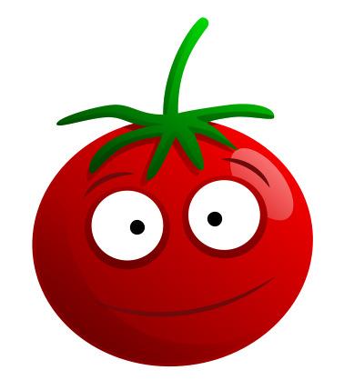 Drawn tomato cute cartoon Techniques techniques Creativity creativity of