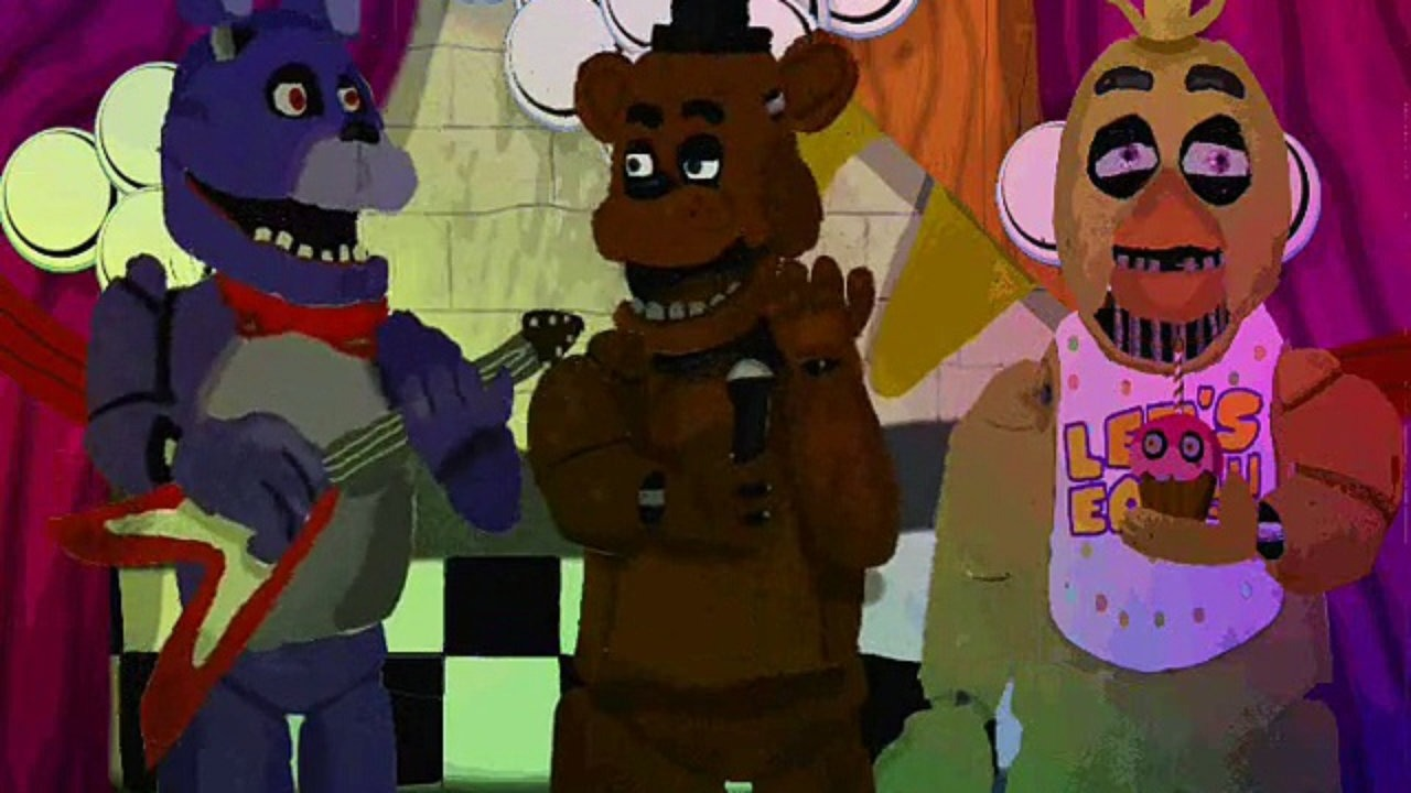 Drawn tombstone animated (animated) living Freddy's song at