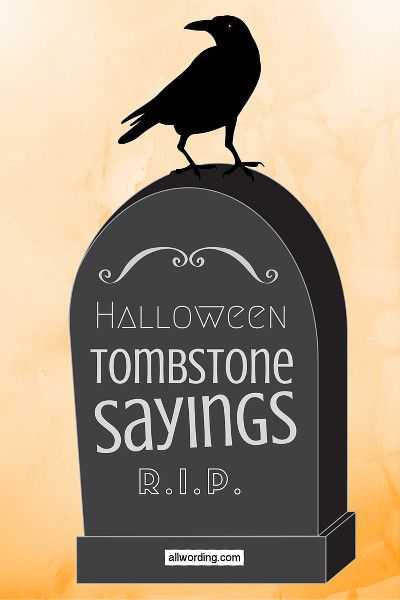 Drawn tombstone halloween decoration Mausoleums Graves & Halloween Sayings