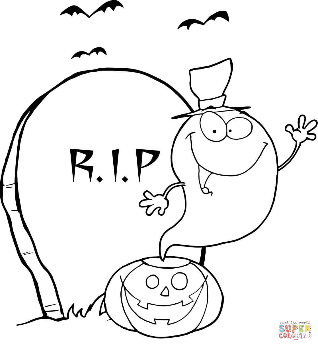 Drawn tombstone printable #9