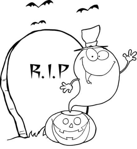 Drawn tombstone printable #5