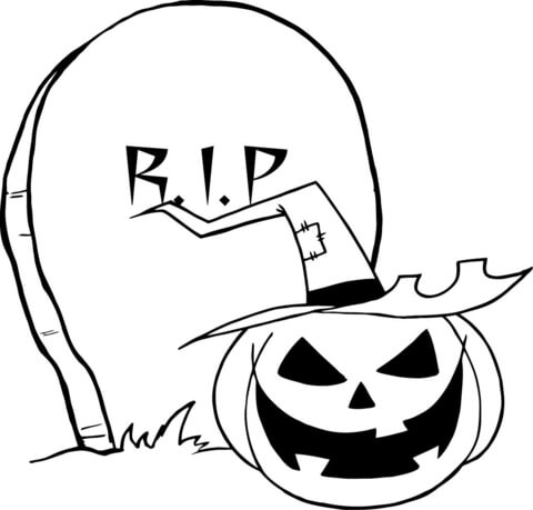 Drawn tombstone printable #7