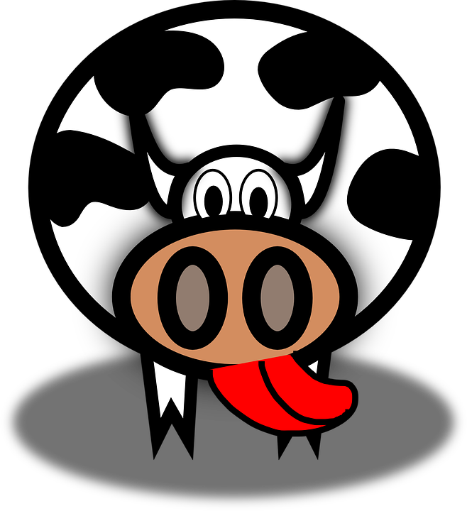 Drawn tongue cattle Cattle Cow Lick Cartoon on