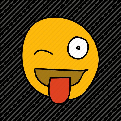 Drawn tongue icon  tease tongue drawn cheeky