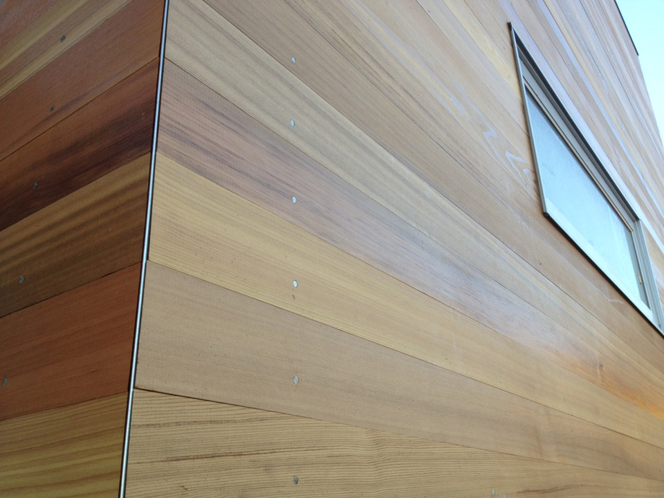 Drawn tongue wooden Groove Natural California cladding of