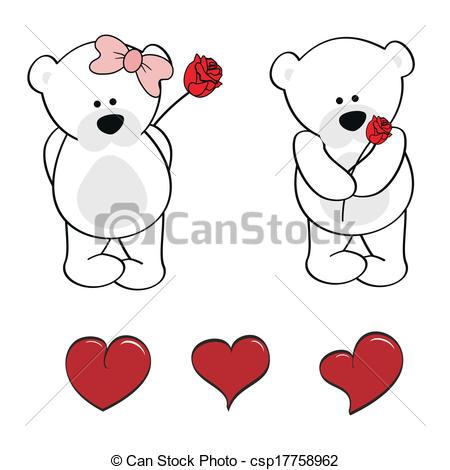 Drawn polar  bear adorable baby Clip baby polar cartoon in