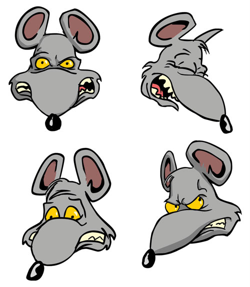 Rat clipart mean #8