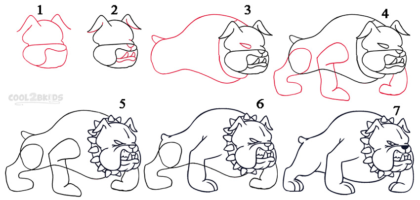 Drawn puppy step by step To teaches how Step Draw