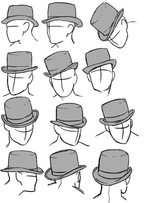 Drawn top hat Cowboy hat on on ideas