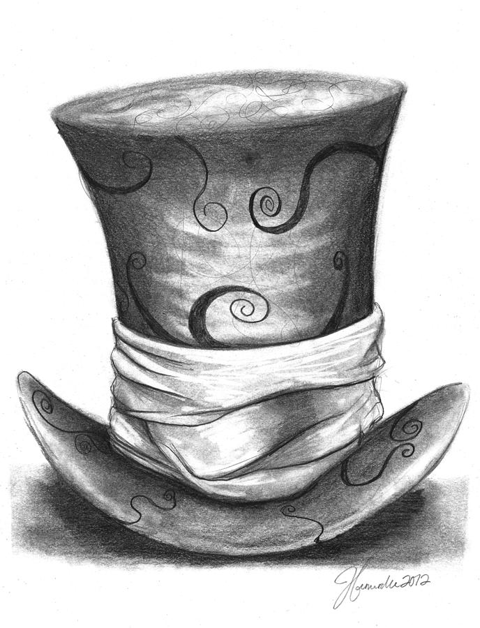 Drawn top hat Network tenniel hatter Hat Computer