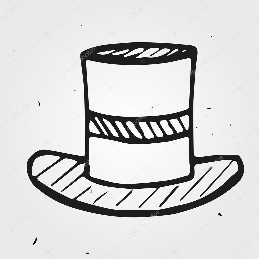 Drawn top hat Top © hat dimgroshev drawn