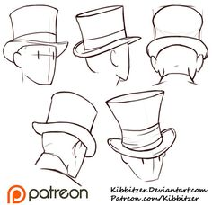 Drawn top hat Hats Drawings for to dibujar