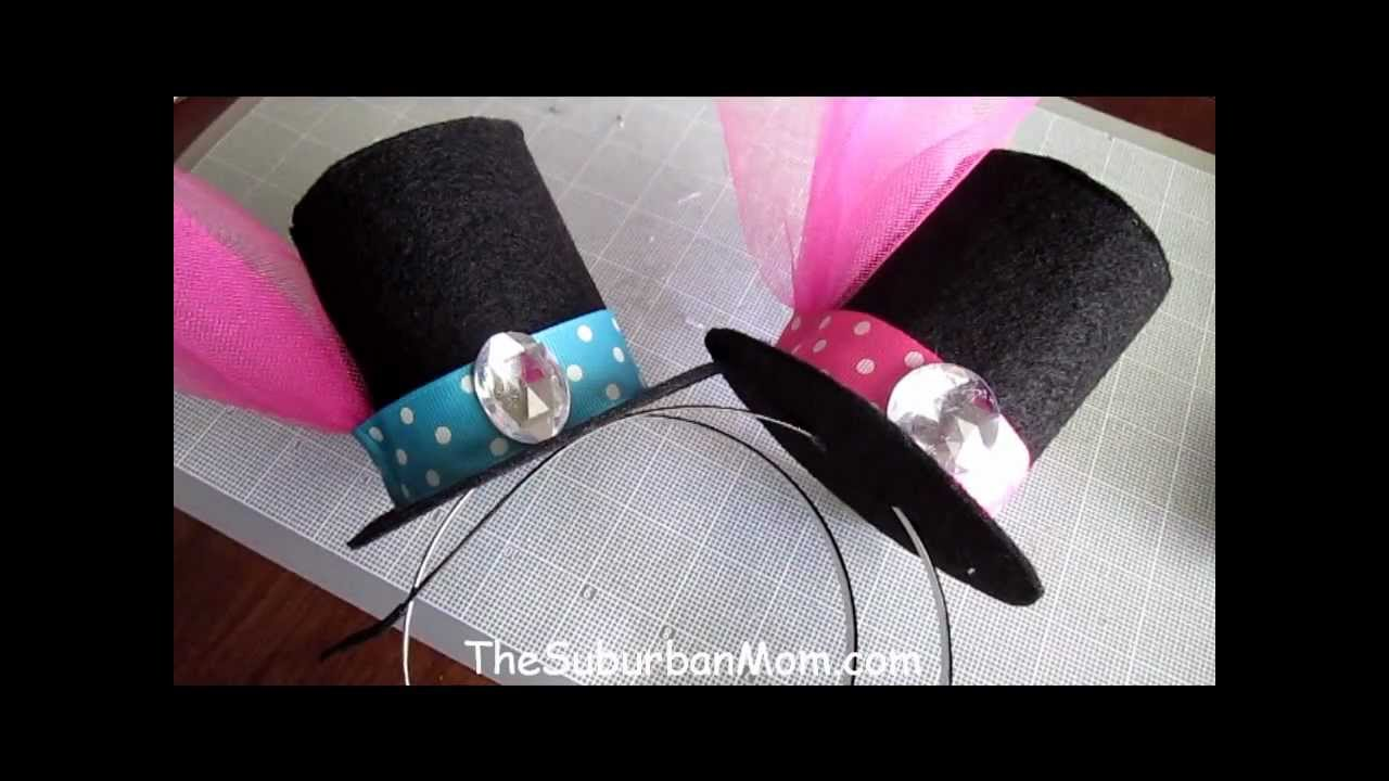 Drawn top hat foam How mini to top Template