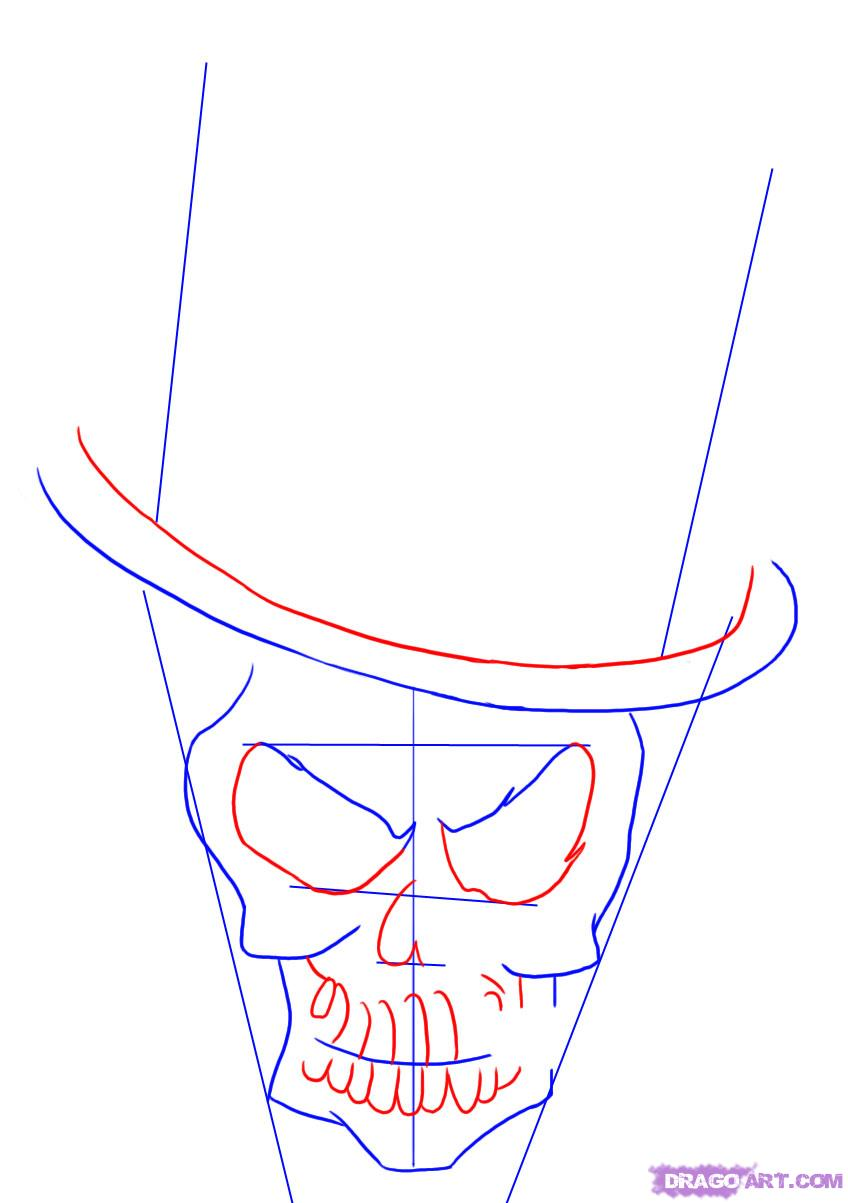 Drawn top hat line drawing 3 a Draw how Head