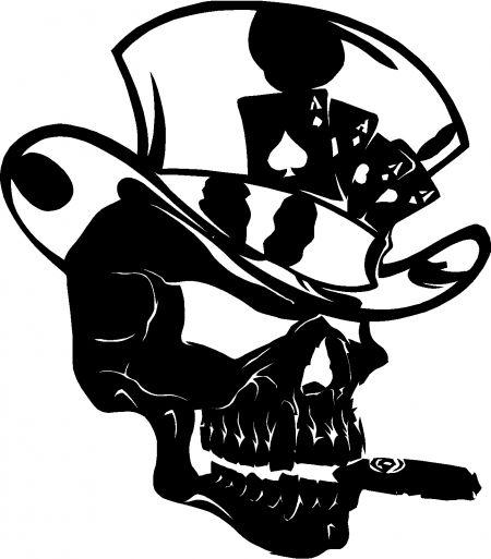 Drawn top hat tengkorak Squash Art Vine Skulls Design
