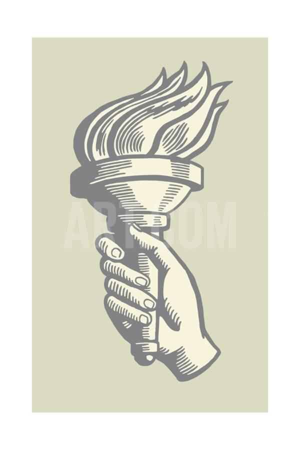 Drawn torch CSA Torch Ink Images Hand