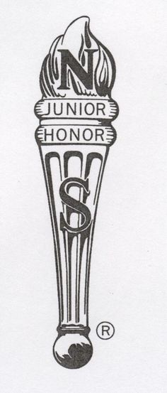 Drawn torch national junior honor society I members welcomes new
