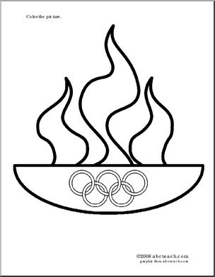 Drawn torch olympics Olympic olympic flame http://abcteach flame