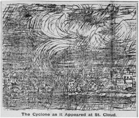 Drawn tornado calamity Saint Tornado 1886 Saint Sketch