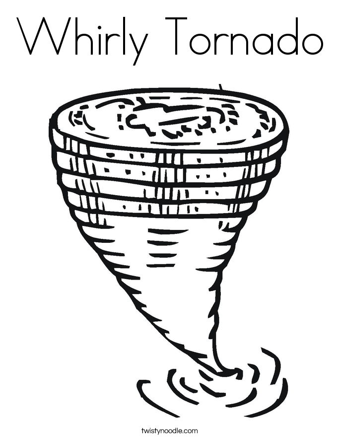 Drawn tornado coloring page Whirly Tornado Coloring Page Coloring