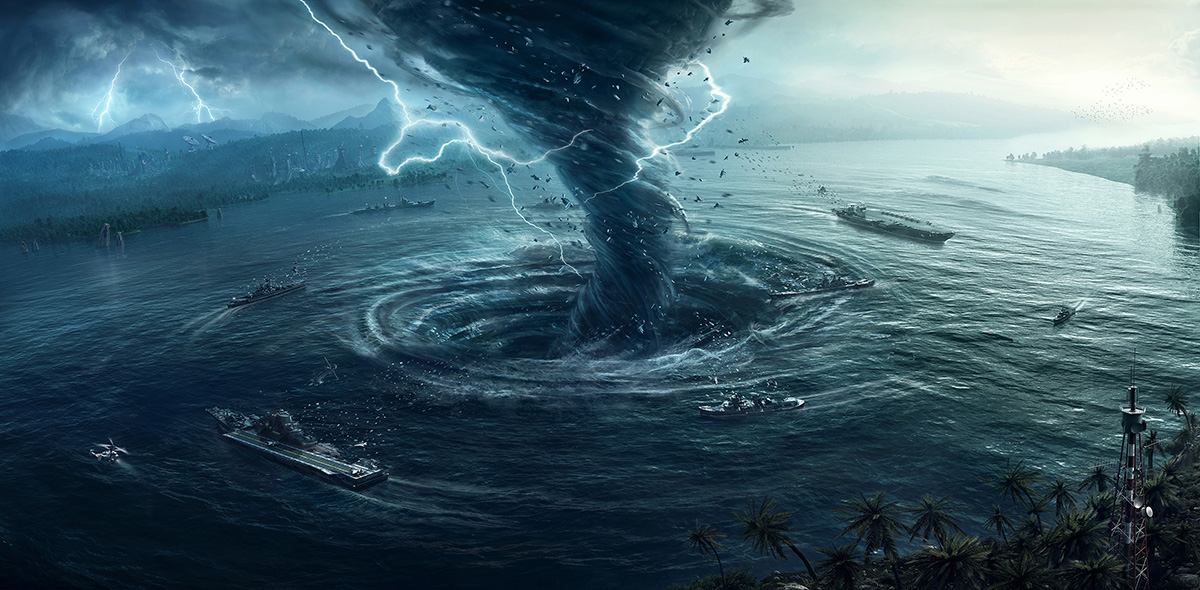 Drawn tornado whirlpool 2 image by landscapes Vue