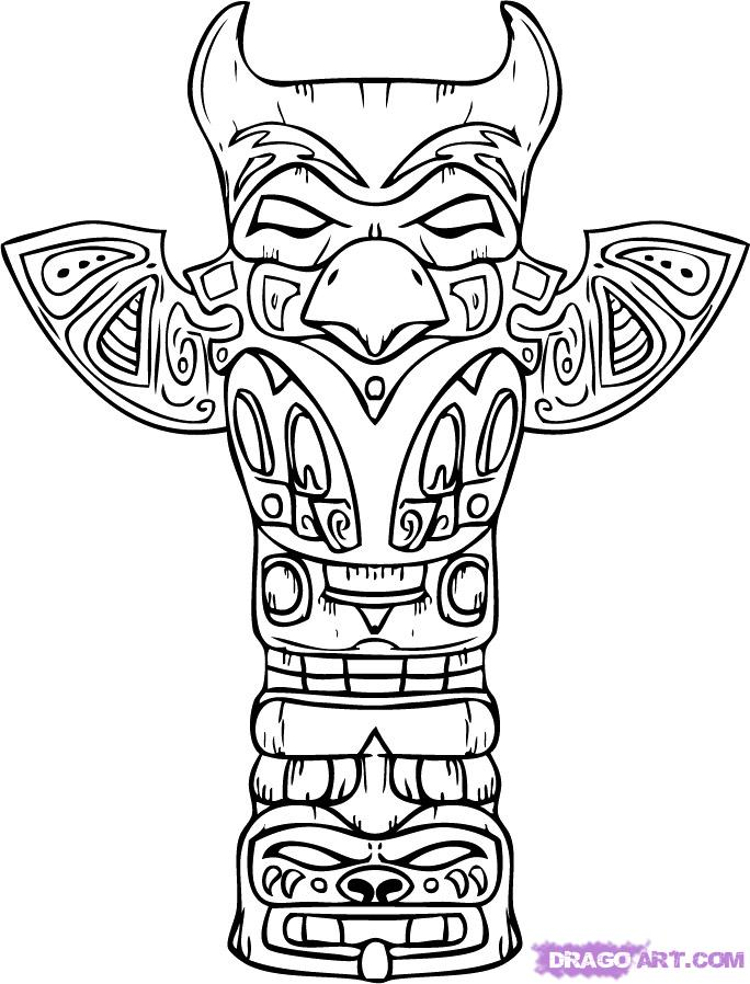 Totem Pole clipart mexican Draw Draw step how Pop