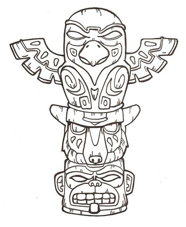 Totem Pole clipart iroquois Ideas on The pole Totem